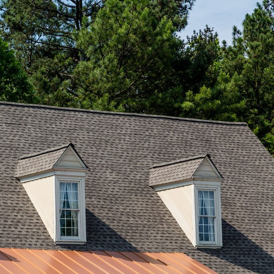 shingle roof on a home