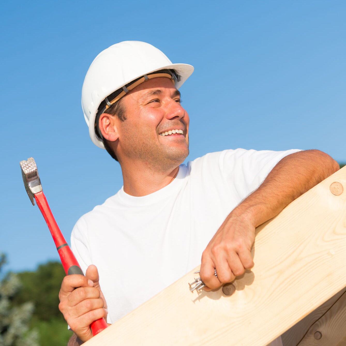 Residential Roofer smiling